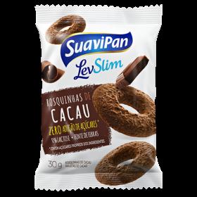 Rosquinhas de Chocolate Light Sem Adição de Açúcar Suavipan 30g