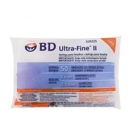 Seringa BD Ultra-Fine 50 UI com Agulha de 8mm 10 Unidades