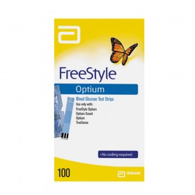 Tiras FreeStyle Optium Caixa com 100 Unidades Abbott
