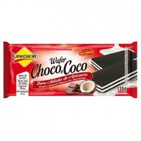 Wafer Chocolate e Coco  Zero Açúcar Lowçucar 115g