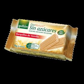 Wafer Recheado Sabor Baunilha Zero Açúcar Gullón 70g